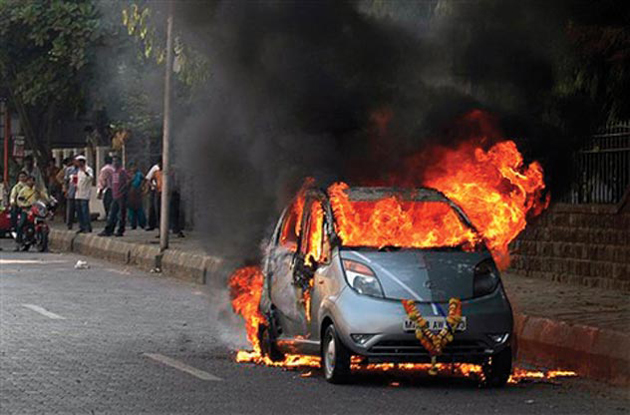 Tata Nano seems to be firing constantly