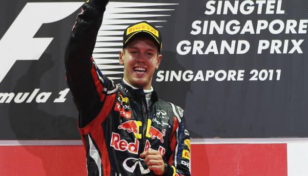 Vettel in Singapore GP