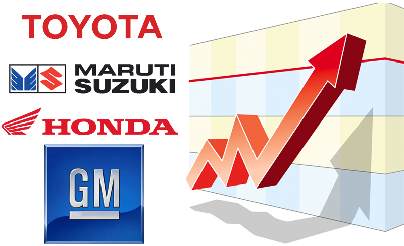 Car Companies Like Toyota, Maruti, Honda and GM May Hike Prices By Up To Rs 25,000