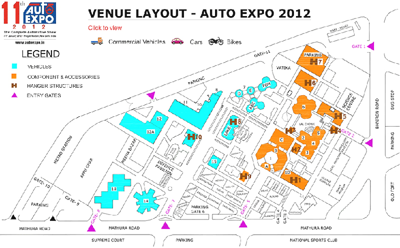 2012 Auto Expo Venue Layout