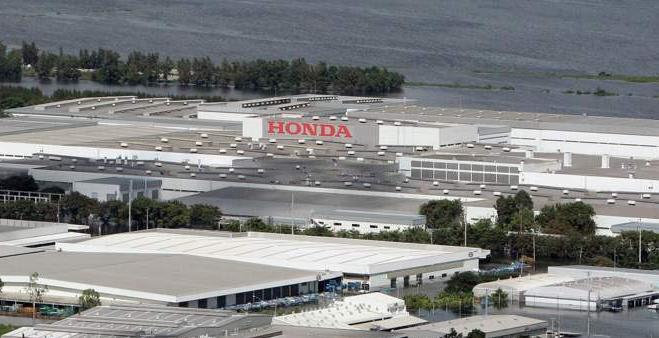 Honda Motors will scrap 1400 of its cars damaged in Thailand floods