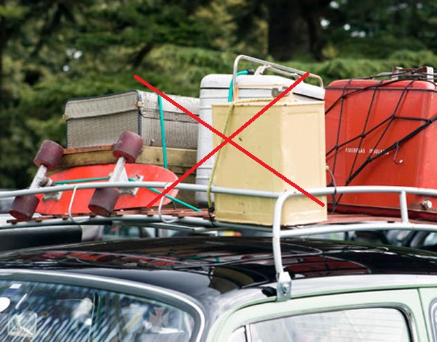 Remove additional weight from your vehicle