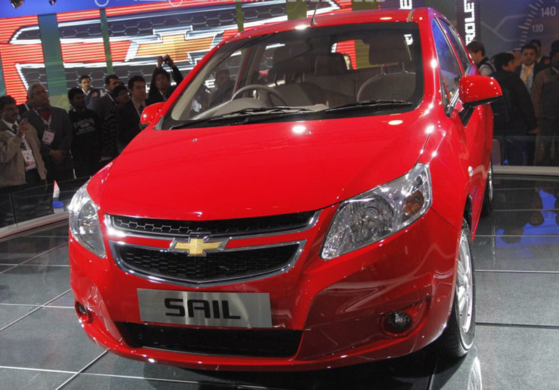 Chevrolet Sail hatchback at 2012 Auto Expo in Delhi