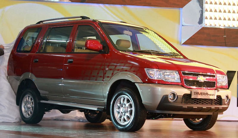 Chevrolet Tavera Neo 3 in India