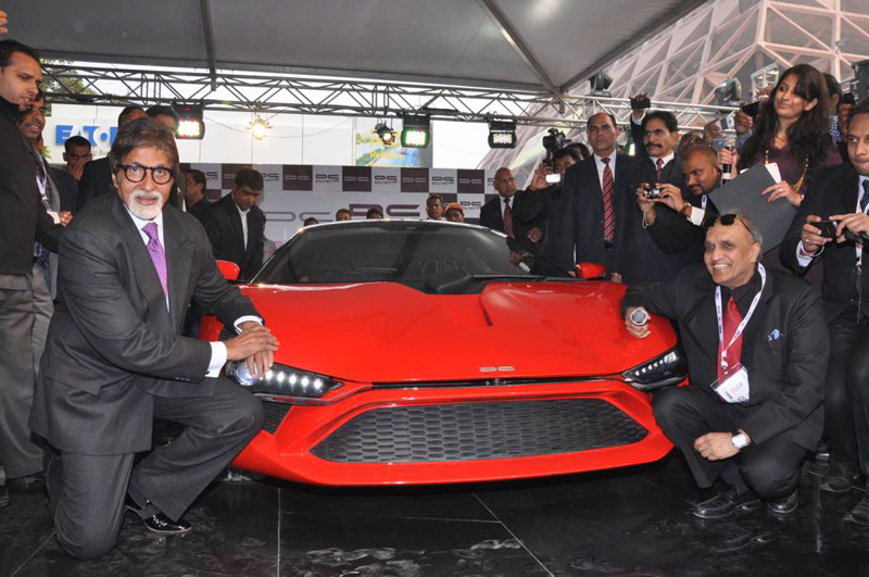 DC Avanti Supercar unveil by Amitabh Bachchan in Auto Expo