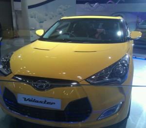 Hyundai Veloster in Auto Expo 2012