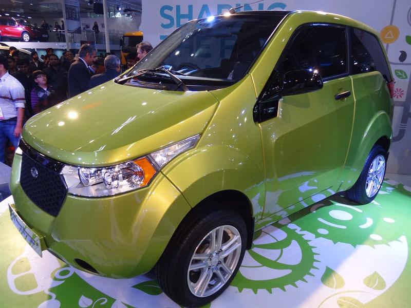 Mahindra Reva NXR revealed at the Auto expo