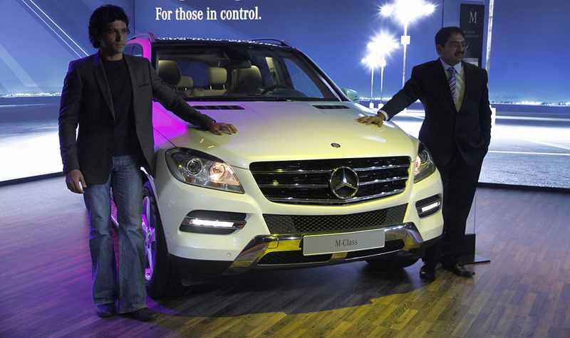 Mercedes-Benz M-Class and SLS AMG unveiled