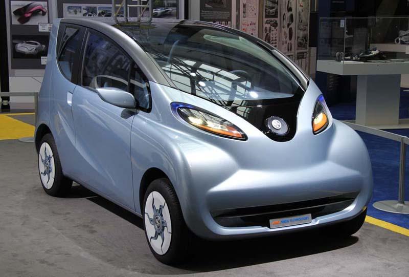 Tata eMO EV concept car in Detroit Auto Show