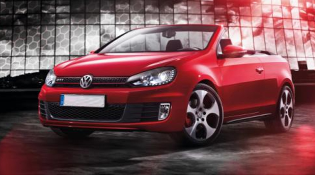 2012 VW Golf GTI Cabriolet uncovered