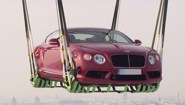 Bentley took to skies for the debut of the Continental V8