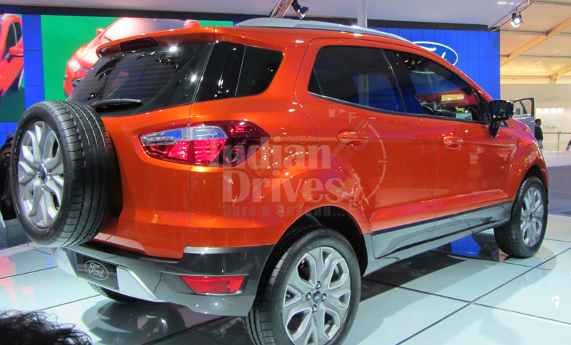 2012 Ford EcoSport's interior's detail out partially