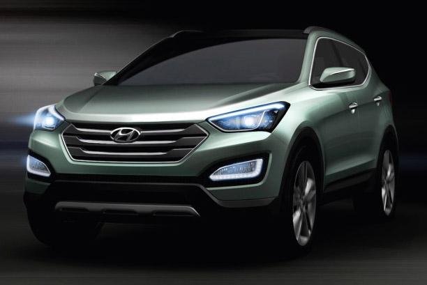 2013 Hyundai Santa Fe Fluidic crossover to get more powerful diesel motor