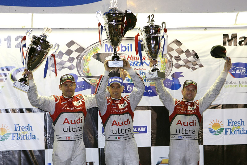 Dindo Capello, Tom Kristensen and Allan McNish