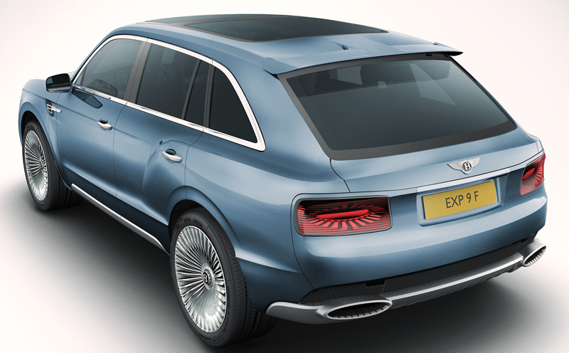Bentley's new concept SUV EXP 9 F presented at the Geneva International Salon d'Auto