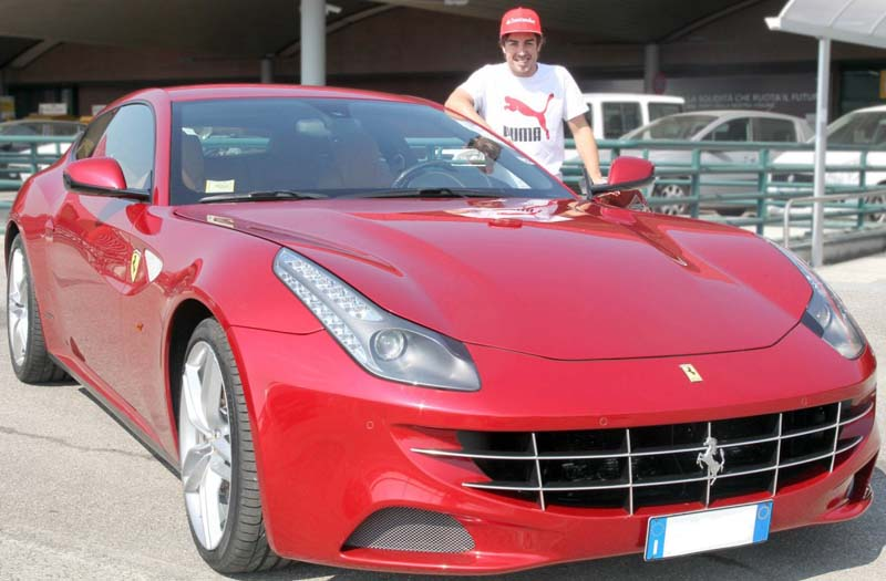 Fernando Alonso gets brand-new Ferrari FF for the Malaysian GP victory