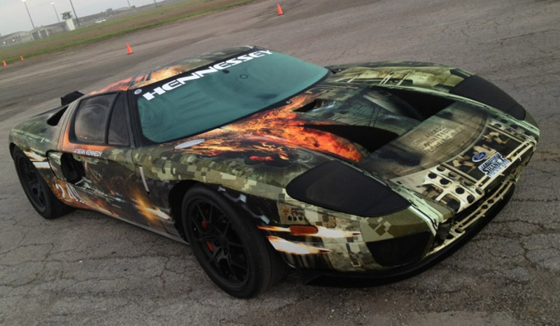Hennessey Ford GT sets standing mile world record at 257.7 mph