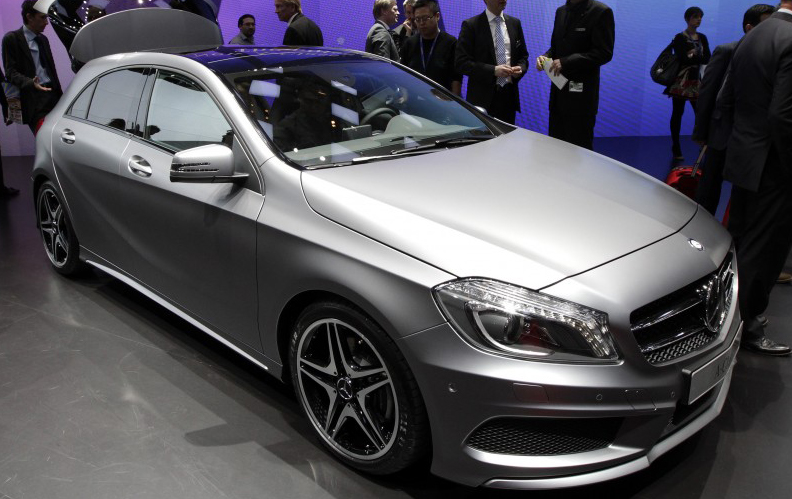New Mercedes A-Class displayed at the Geneva Motor Show 2012