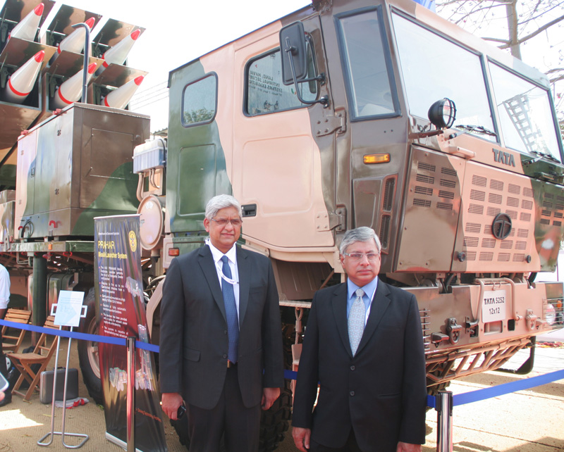 TATA Motors showcases new range of military vehicles at the Defexpo 2012