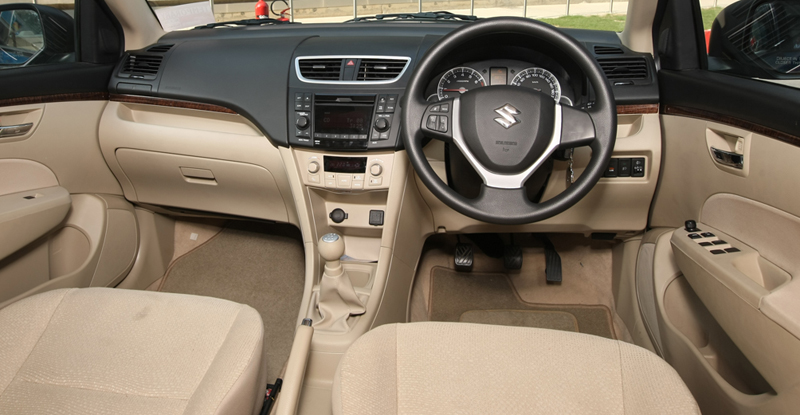 2012 Maruti Suzuki Swift Dzire interior