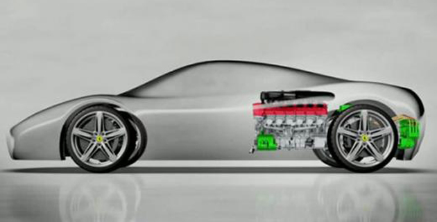 Ferrari Enzo's Successor (F70) Hybrid Powertrain Revealed