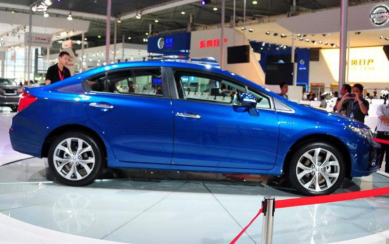 Honda Civic sedan re-launched in the Chinese automobile market as Dongfeng Ciimo