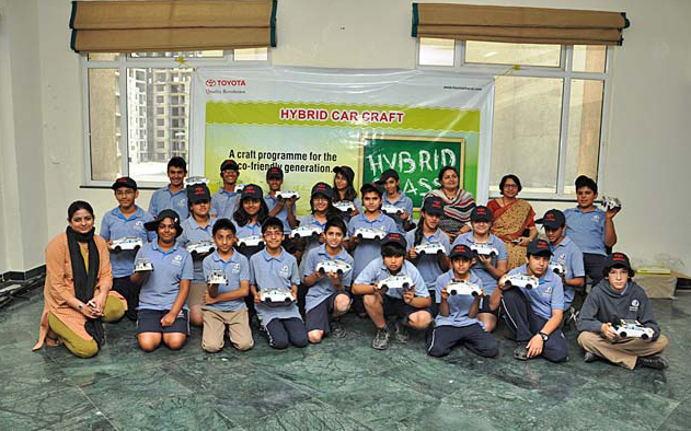 Hybrid Craft Campaign of Toyota Kirloskar Motor Pvt. Ltd goes to school