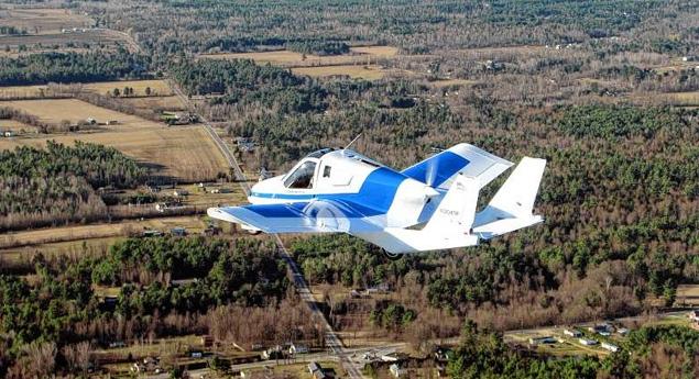 Terrafugia flying car test flight