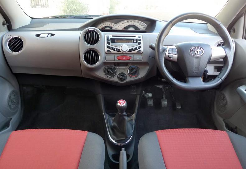 Toyota Etios interior