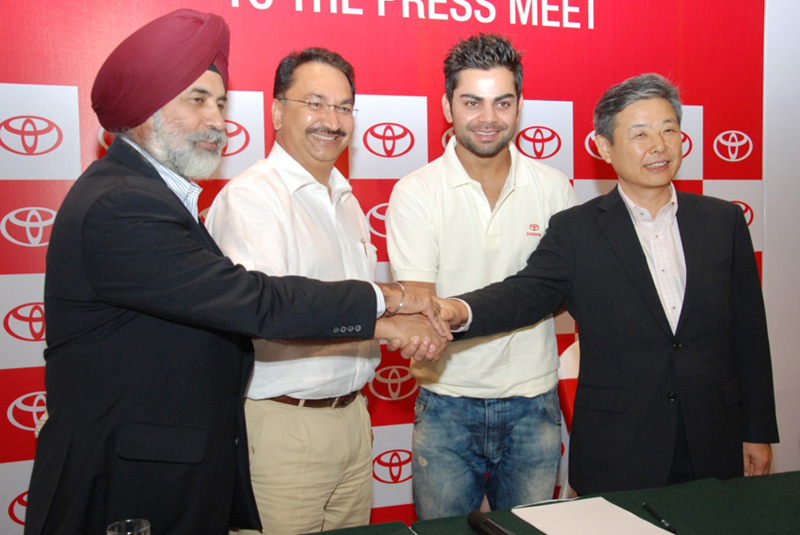 Toyota ropes Virat Kohli for endorsement