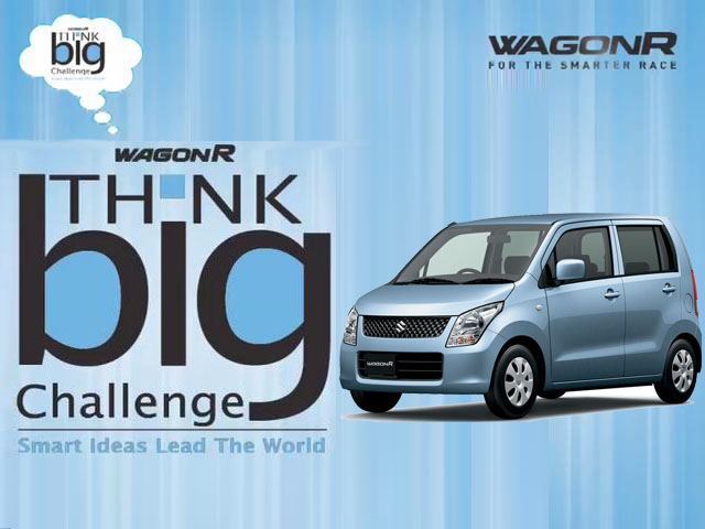 Wagon R Think Big Challenge 3rd Edition rolled out by the Maruti Suzuki