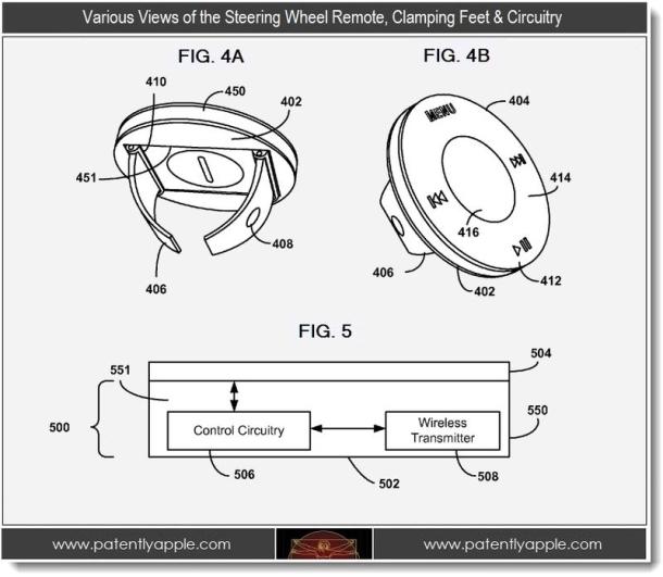 Apple patents iOS steering-wheel controls