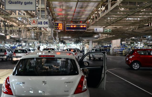 Maruti Suzuki reports a decline of 3.04% in their profits of Q4 of FY 2011-2012