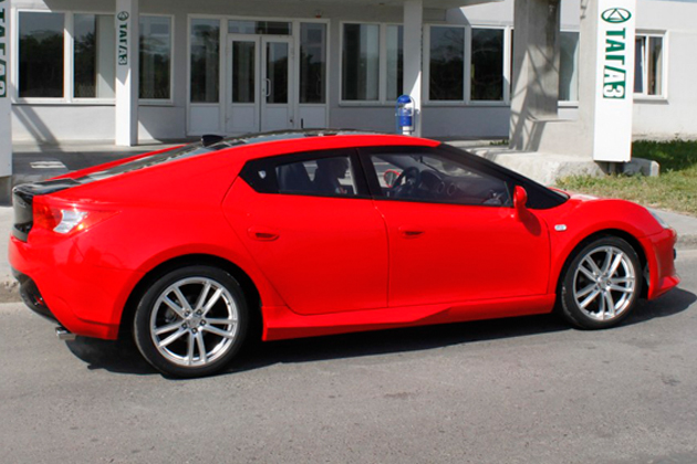 TagAZ to launch the world's cheapest four-door coupe - Side View