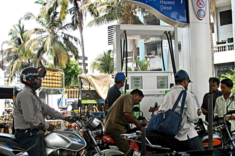 Petrol prices down by Rs 1.60 a litre