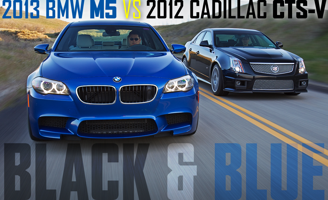 Cadillac CTS-S and BMW M5 - Who Wins the Race?