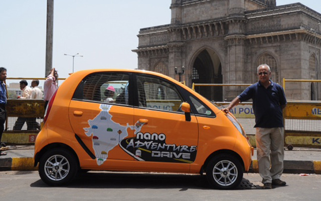 63 year old motoring enthusiast travels 26,500 kms in a TATA Nano