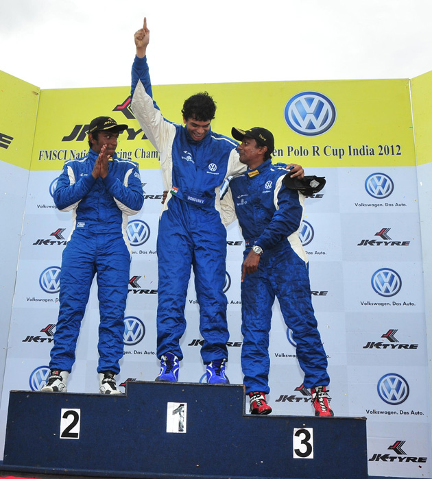Ameya Walavalkar wins Race One of Round Two in VW Polo R Cup
