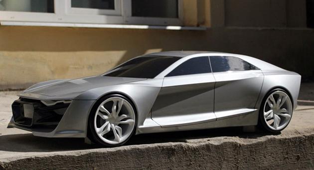 Audi R9 design looks forward to future as high performance sports saloon
