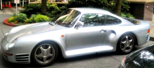 Bill Gates' Porsche 959 spotted in a fleet of cars in Bellevue