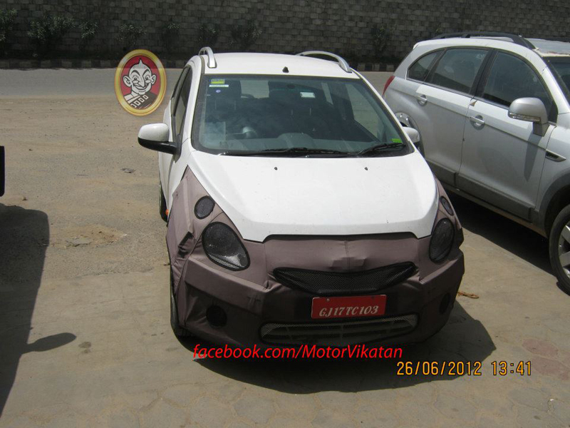 Chevrolet Beat Facelift caught Testing