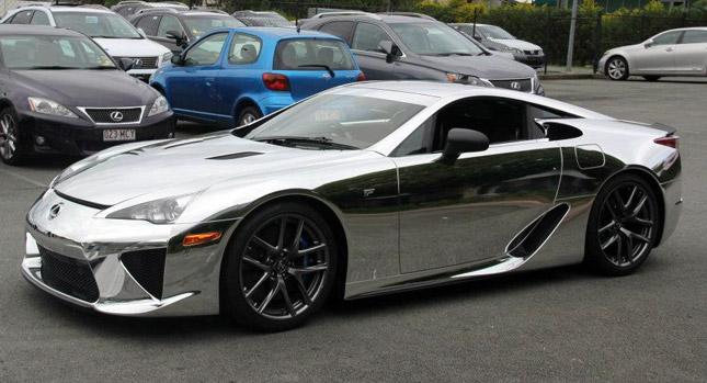 Lexus LFA gets world first all chrome treatment in Australia