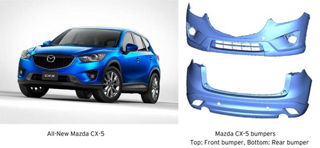 Mazda Makes World Lightest Bumpers
