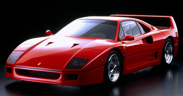 First high-speed production road car, Ferrari F40 turns 25