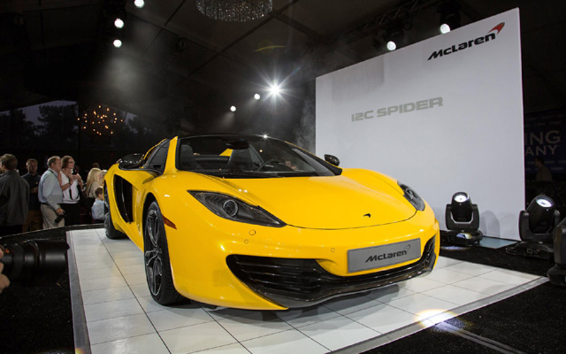 2013 McLaren 12C Spider Convertible Sports has its debut