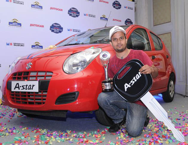 Maruti Suzuki Auto Car Young Driver Contest Kolkata gets two in the top three with Sudeep as the winner