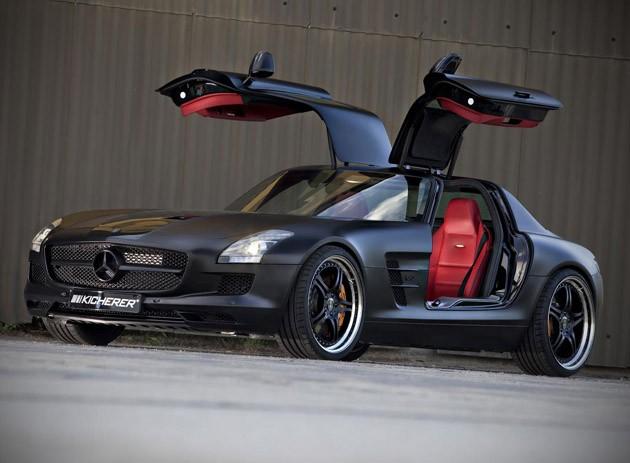 Mercedes Benz SLS AMG Black edition images surfaces