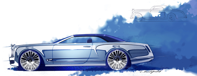 Mulsanne vision concept's sketches released by bentley