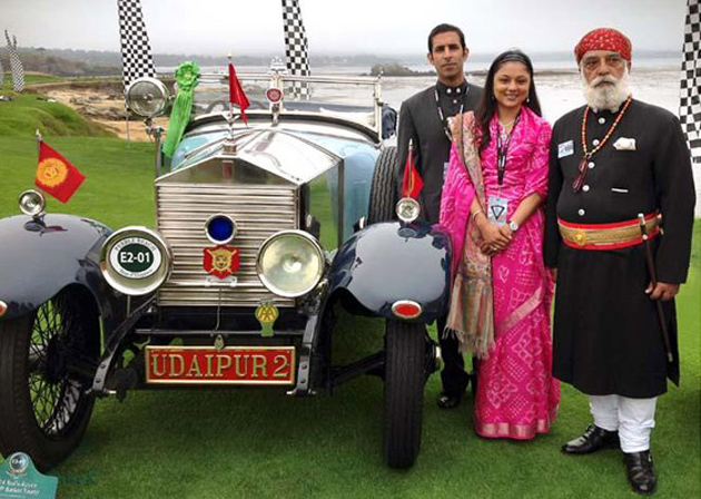 Royal house of udaipur's rolls royce wins at pebble beach