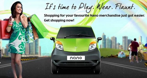 Tata Nano launches its online merchandise store